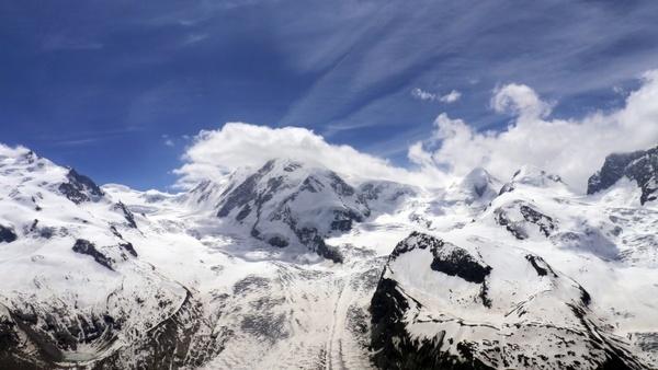 monterosa glacier alps