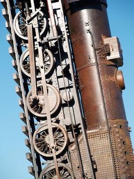 monument locomotive metal