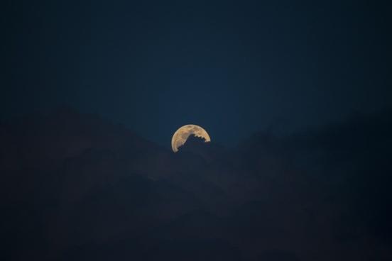 moon cloud clouds