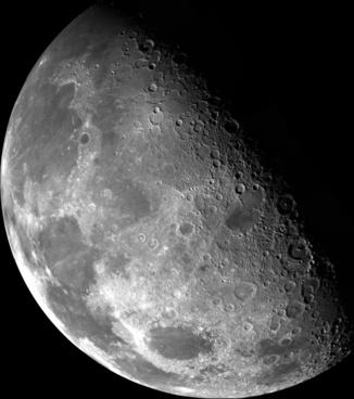 moon half moon darkness