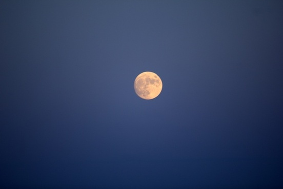 moon in sky in madison wisconsin