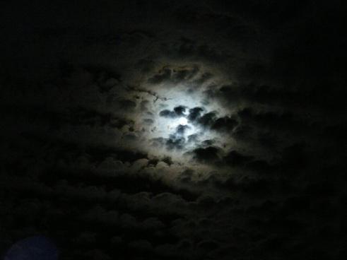 moon moonlight clouds