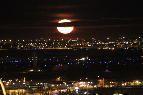 moon rise over the airport jan 2013