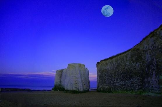 moon sea cliff