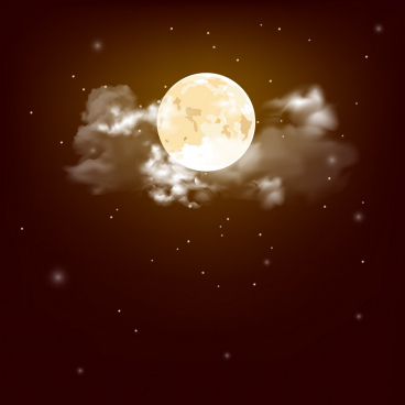 moon sky painting modern twinkling design