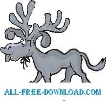 Moose Antlers Tied On