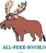 Moose Stuck in Pan