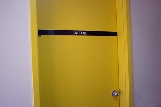 morgue door