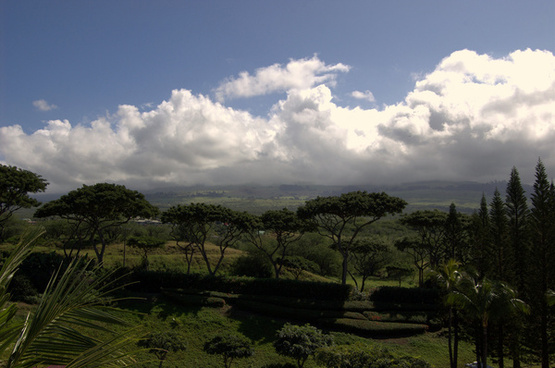 morning clouds form over haleakela