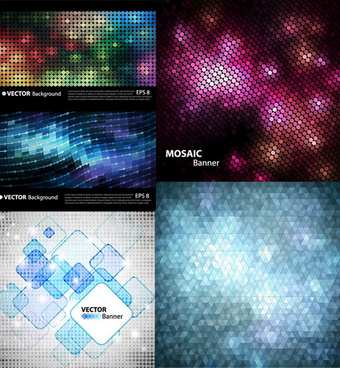 mosaic background vector graphics