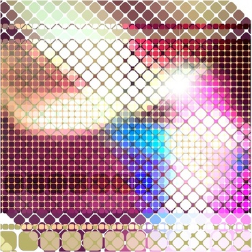 mosaic design background vector
