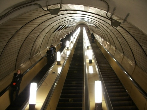 moscow russia escalator