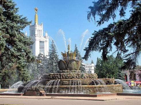 moscow russia fountain