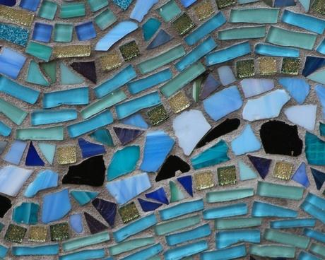 mosiac colored glass stone