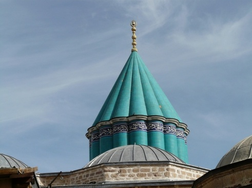 mosque roof blue