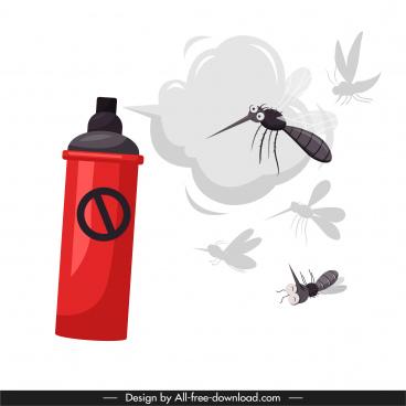 mosquito prevention banner sprayer sketch dynamic design