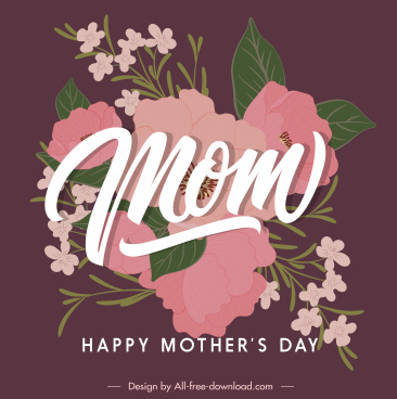 mother day banner template elegant classic floral decor