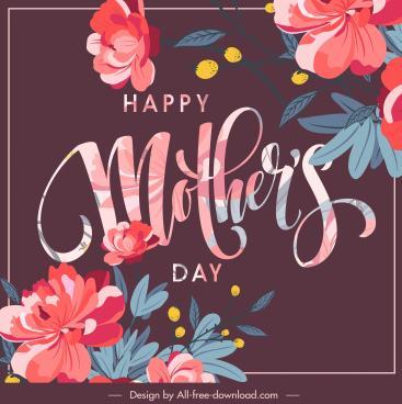 mother day banner template elegant classical floral decor