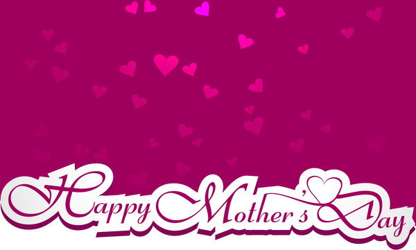 mothers day card typography beautiful stylish text vector