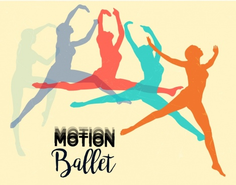 motion background ballet performer silhouette icons