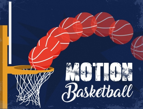 motion basketball background retro grunge decor