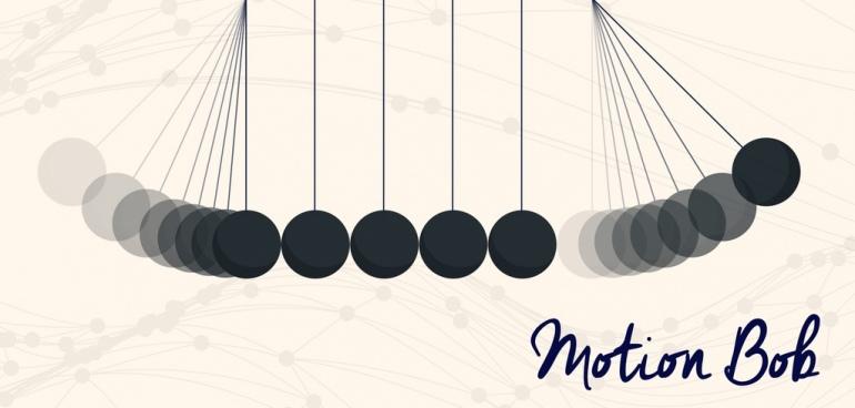 motion bob background flat decoration