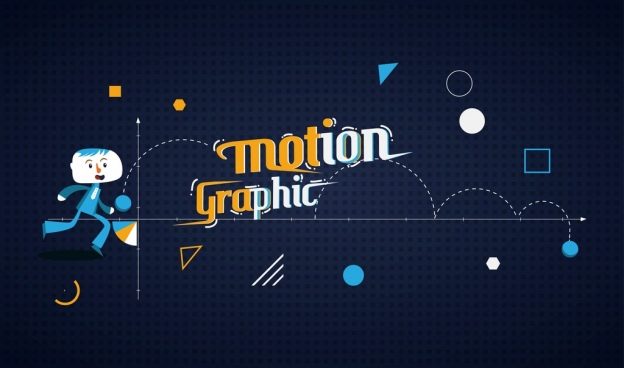 motion chart background human icon geometry decoration