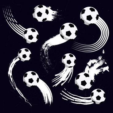 motion football background black and white design