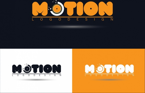 motion logo design broken circle icon