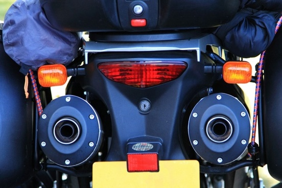motorbike exhaust pipes