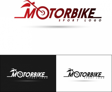 motorbike logo collection text symbol ornament