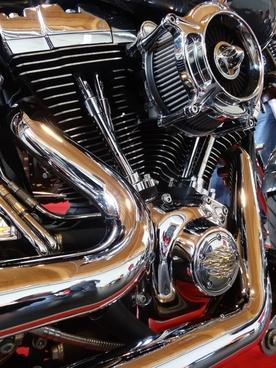 motorcycle motor silver