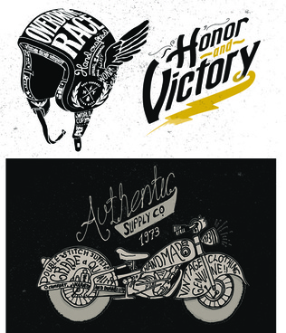 motorcycle retro posters creative vector graphics
