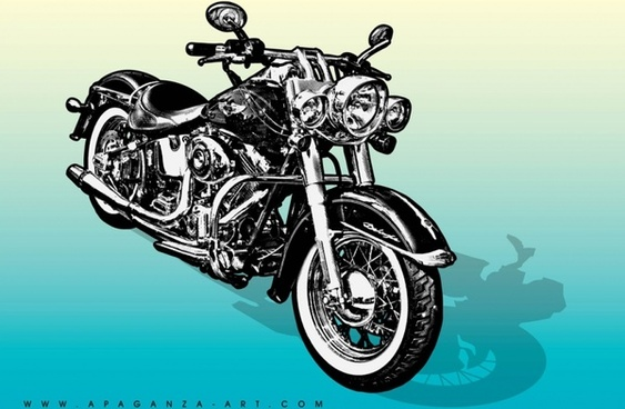 Motorcycle Vector Graphics