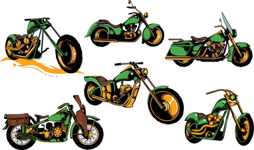 motorcycle vintage design vector graphics