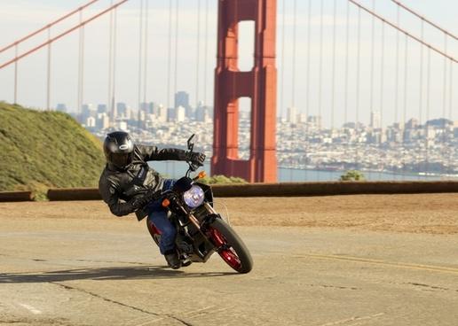 motorcycle zero s action san francisco