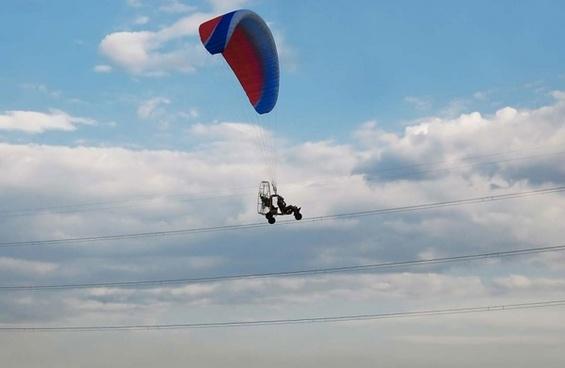 motorized glider on power line