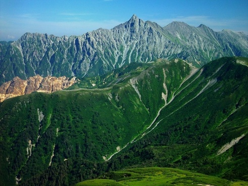 mount yari japan landscape