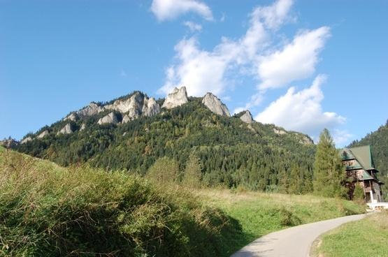 mountai top view landscape