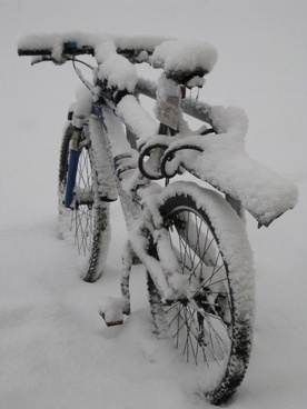 mountain bike snow snowy