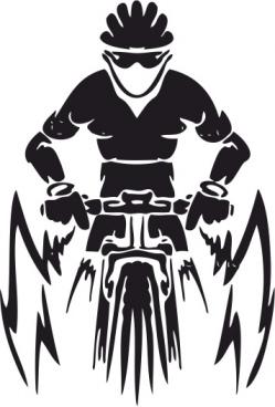 mountain bike vector free vector
