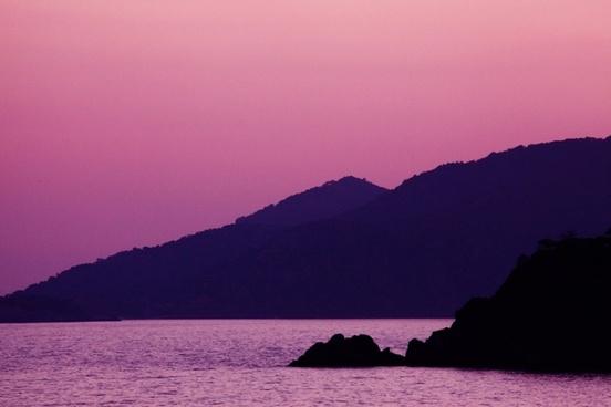 mountain dark dusk