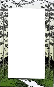 Mountain Frame clip art