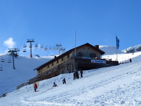 mountain hut high alp hut