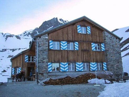 mountain hut rest house hut
