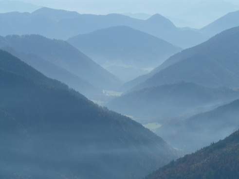 mountain mountains back light