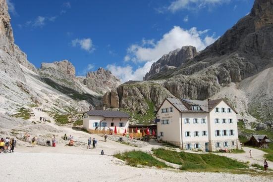 mountain mountains dolomites