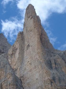 mountain peak dolomites