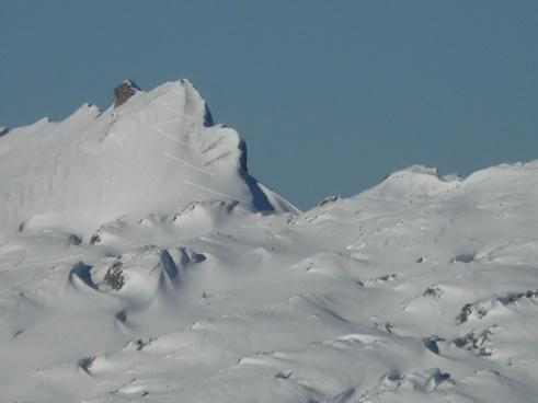 mountain summit skiing