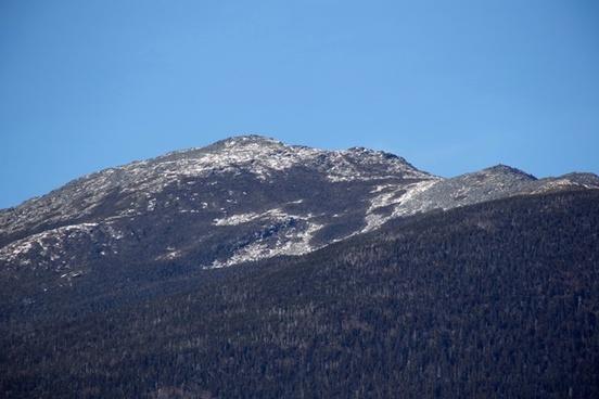 mountain trees snow